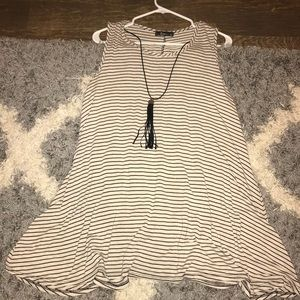 Dresses & Skirts - Striped T-Shirt Dress with Necklace